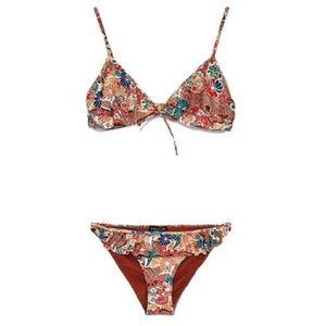 🆕 Zara 2 piece 👙NWT floral ruffled bikini 💋